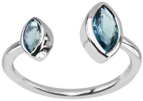 Srebrny pierścionek PCS5800 - Szkło