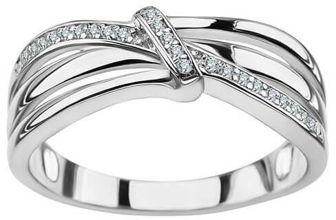Srebrny pierścionek - Cyrkonia