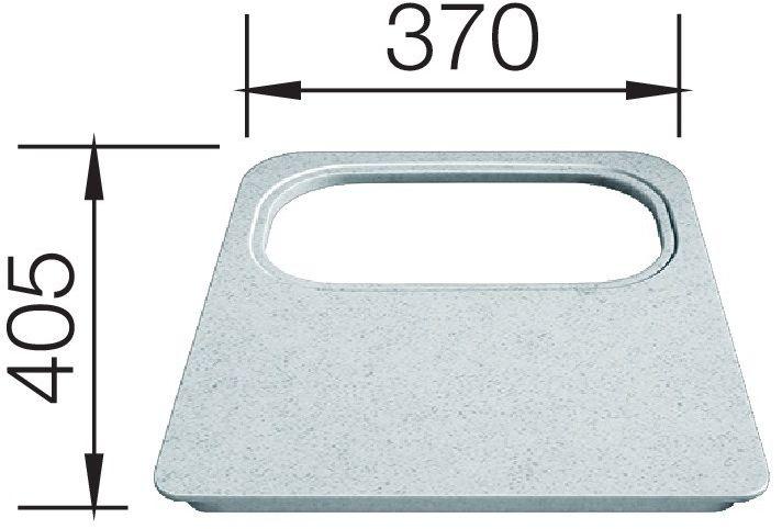 BLANCO Deska z tworzywa biała z wycięciem na odsączarkę, 405x370, [DANA] 218796 Płać mniej za zakupy u nas - (22)266 82 20 Zapraszamy :)