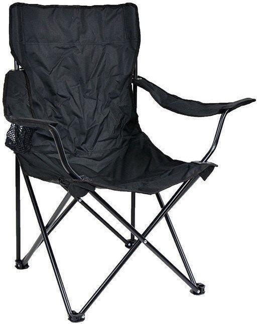 Mil-Tec Krzesło Składane Relax Wędkarskie Czarne