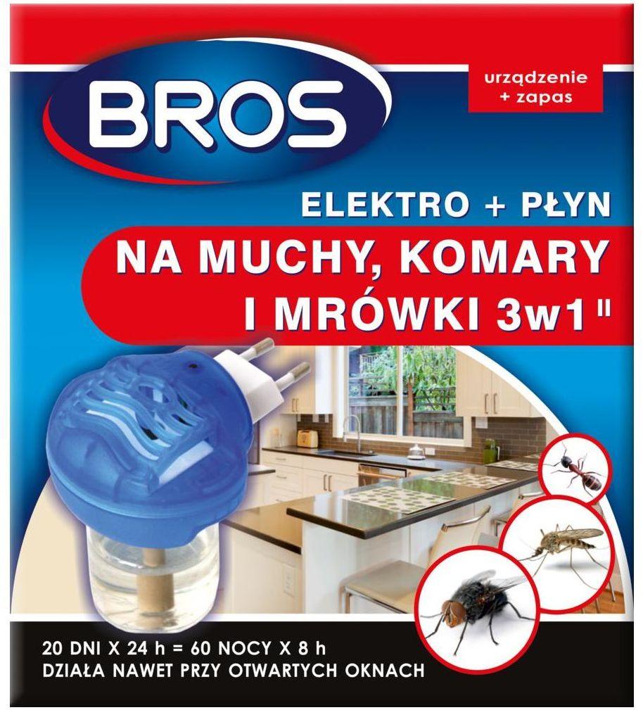 Elektryczny odstraszacz owadów 3w1 na komary, muchy, mrówki BROS