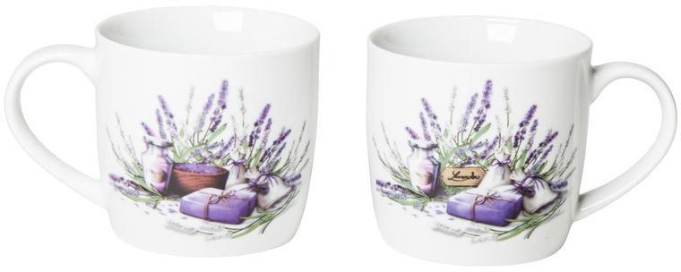 Kubki ceramiczne 360 ml Lavender, BANQUET