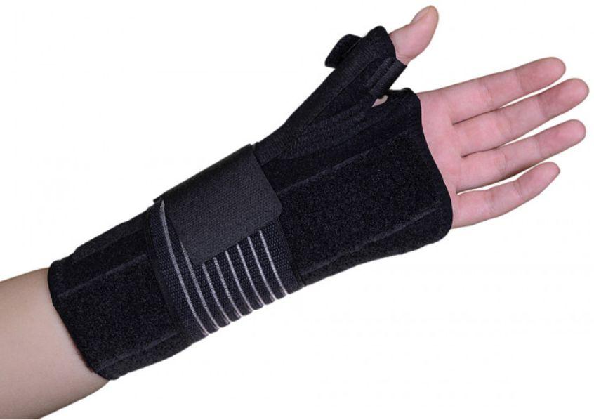 Uniwersalny stabilizator nadgarstka i kciuka z wyjmowaną szyną i regulowanym zapięciem (ARMOR ARH5021)