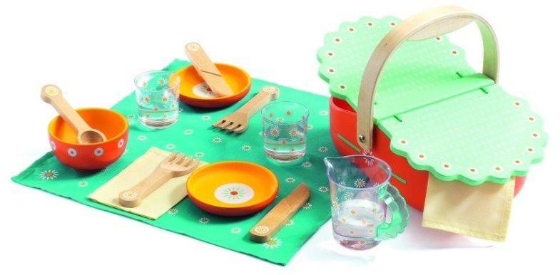 Pomarańczowy kosz piknikowy, DJ06527-Djeco, zabawki dla dziewczynek