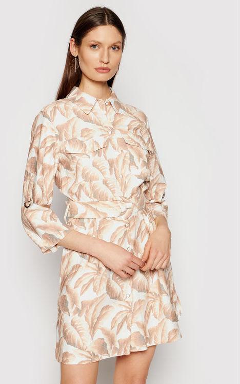 Silvian Heach Sukienka koszulowa Derry PGP21752VE Beżowy Regular Fit