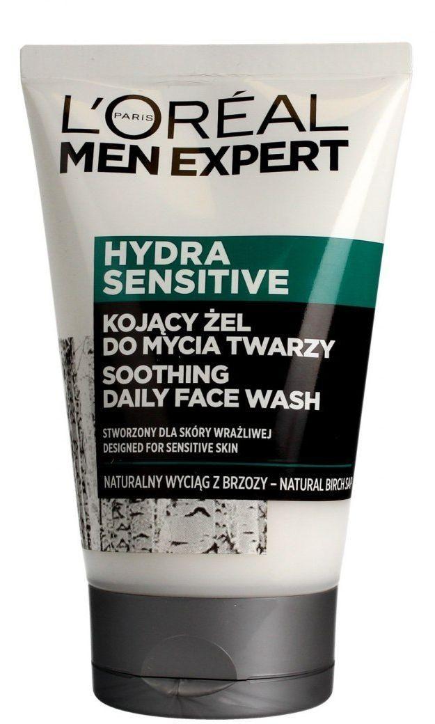 Loreal Loreal Men Expert Hydra Sensitive Kojący Żel do mycia twarzy - skóra wrażliwa 100ml