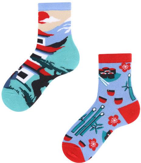 Tanuki Kids, Todo Socks, Japonia, Azja, Orient, Kolorowe Skarpetki Dziecięce