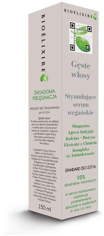 Bioelixire Gęste Włosy Serum wegańskie 150ml