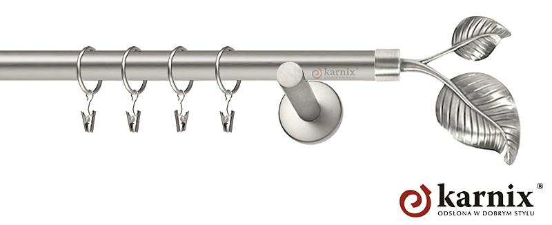 Karnisze nowoczesne NEO pojedynczy 19mm Sorento chrom mat