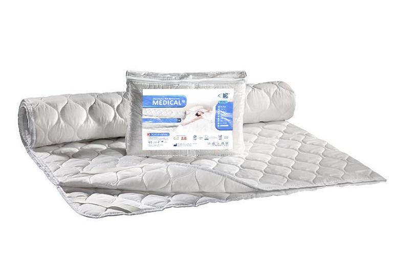 Podkład na materac antyalergiczny 200x220 Medical biały z gumką AMW