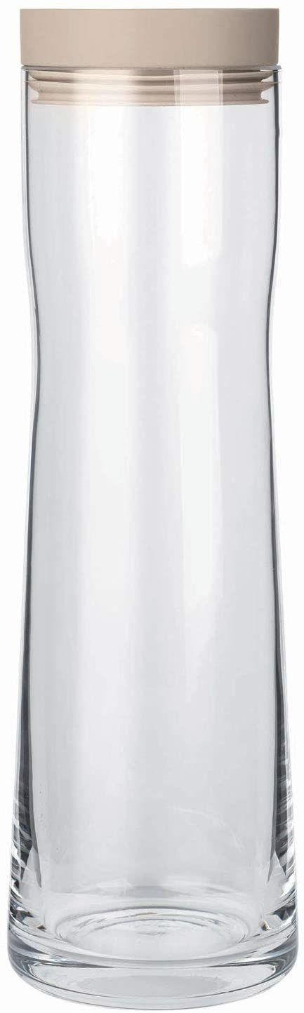 Blomus Splash Nomad szklana karafka na wodę z pokrywką z polerowanej stali nierdzewnej i silikonu