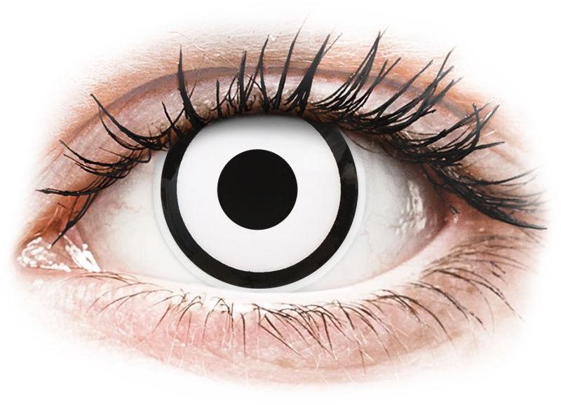 ColourVUE Crazy Lens - White Zombie - zerówki
