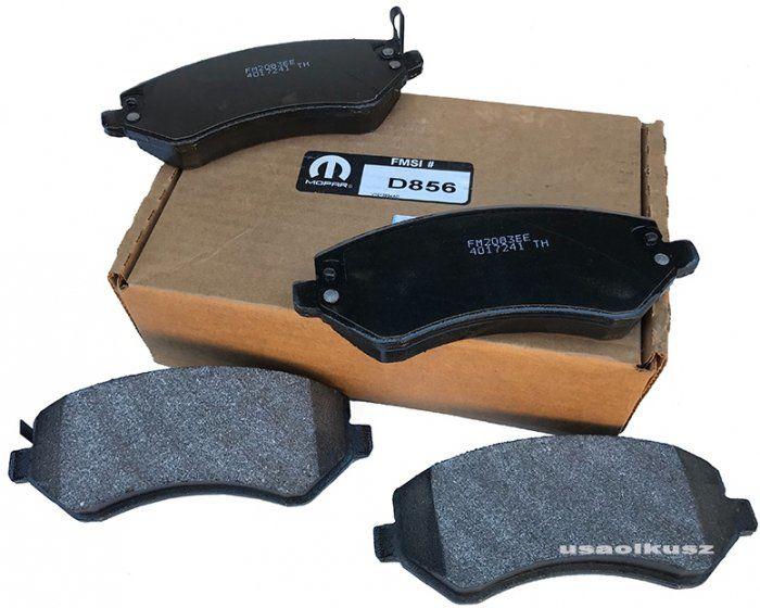 Klocki hamulcowe przednie MOPAR bębny tył Dodge Caravan RG 2001-2007