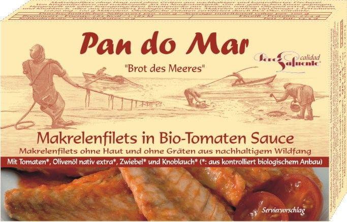 Makrela w Sosie Pomidorowym BIO 120g - Pan Do Mar