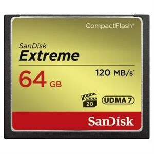 COMPACT FLASH EXTREME PRO 120MB/s 64GB UDMA7