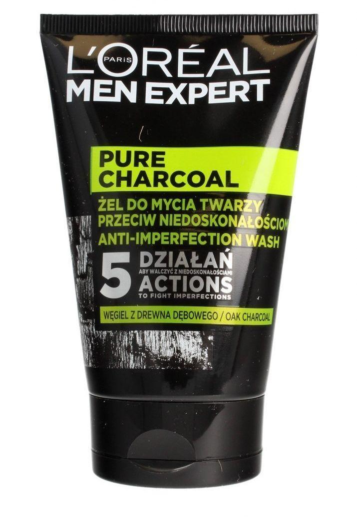Loreal Loreal Men Expert Pure Charcoal Żel do mycia twarzy przeciw niedoskonałościom 100ml