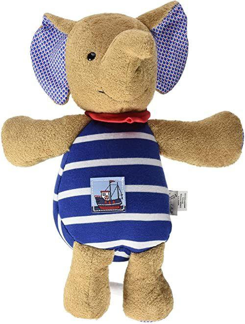 Sterntaler Zabawka muzyczna, pluszowy słoń Erwin, wymienna pozytywka, rozmiar: L, brązowy/niebieski