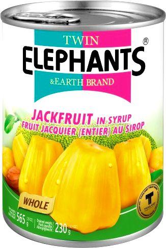 Żółty jackfruit w słodkim syropie 565g - Twin Elephants & Earth Brand