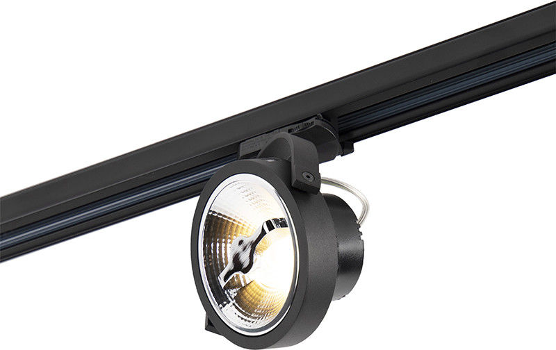 QAZQA Reflektor punktowy LED 3-fazowy czarny 15W 2700K w tym AR111- Expert