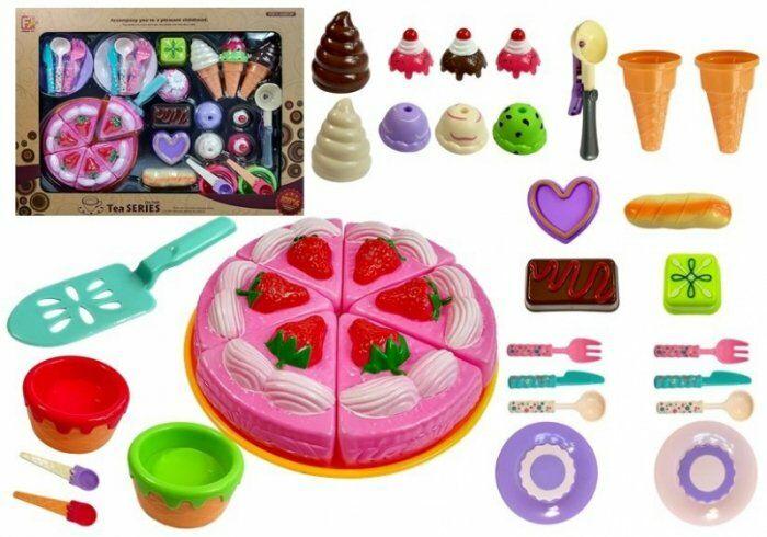 Zestaw Słodkości do Zabawy w Cukiernię Ciasto Lody