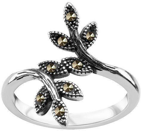 Srebrny pierścionek PDK5787 - Markazyty