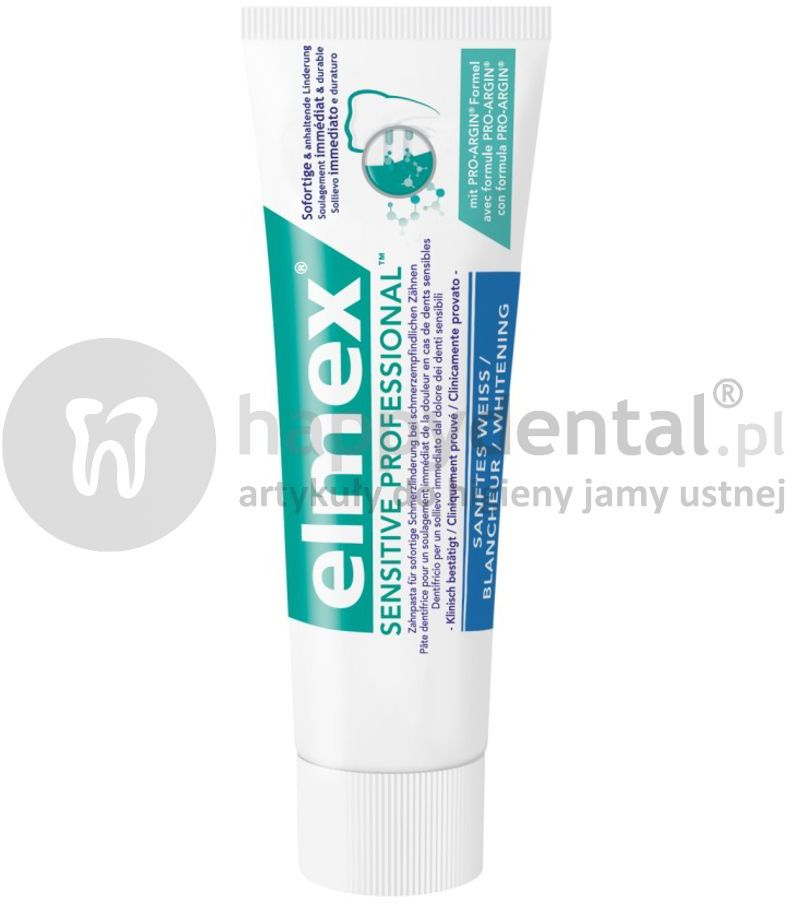 ELMEX Sensitive PROFESSIONAL GENTLE WHITENING 75ml - wybielająca pasta do zębów zapewniająca natychmiastową ulgę w nadwrażliwości