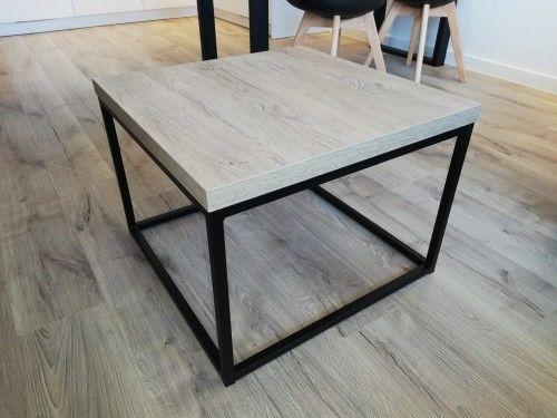 Nowoczesny metalowy stolik kawowy STILO1 Dąb Brunico