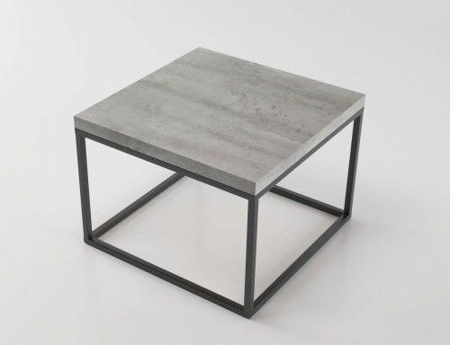 Loftowy stolik kawowy STILO1 60x60 cm Beton