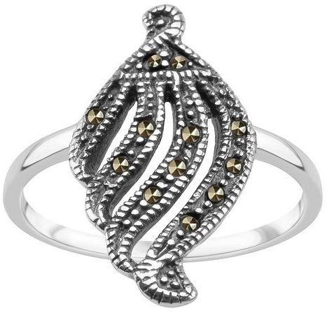 Srebrny pierścionek PDK5790 - Markazyty