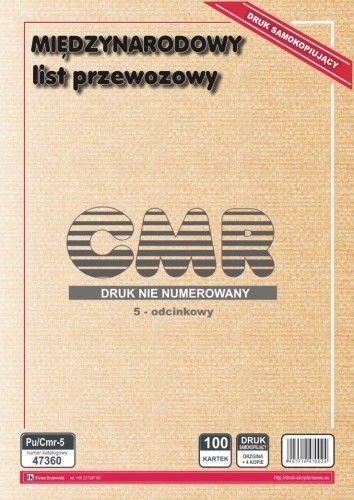 Międzynarodowy list przewozowy CMR [Pu/Cmr-5]