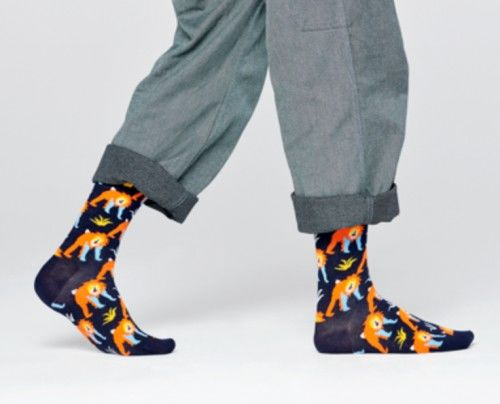 Happy Socks skarpetki MNK01-6500 MAŁPY 36-40