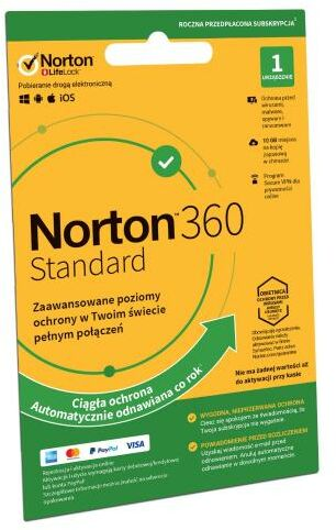 Norton Subskrypcja Norton 360 Standard 10GB (1 urządzenie / 1 rok) Dostęp po opłaceniu zakupu