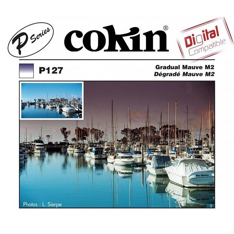 Filtr Cokin P127 - połówkowy fioletowy M2 z twardym przejściem