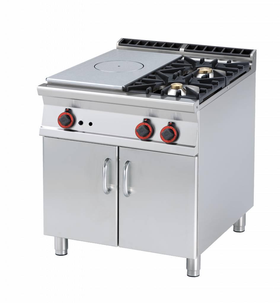 Kuchnia żeliwna z szafką 1 płyta 2 palniki 24000W 80x900x(H)900mm