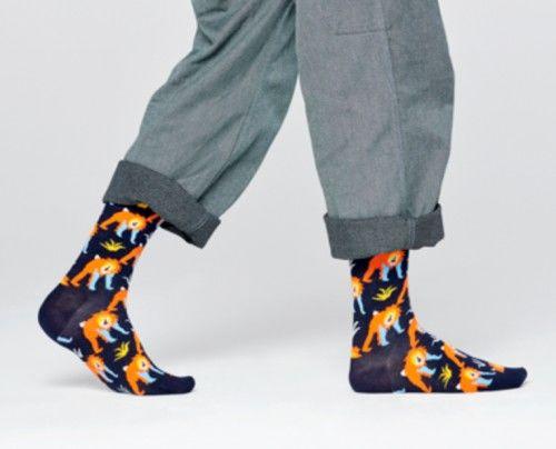Happy Socks skarpetki MNK01-6500 MAŁPY 41-46