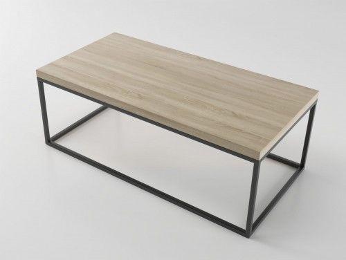 Nowoczesny duży stolik ława w stylu skandynawskim STILO3 Dąb Brunico