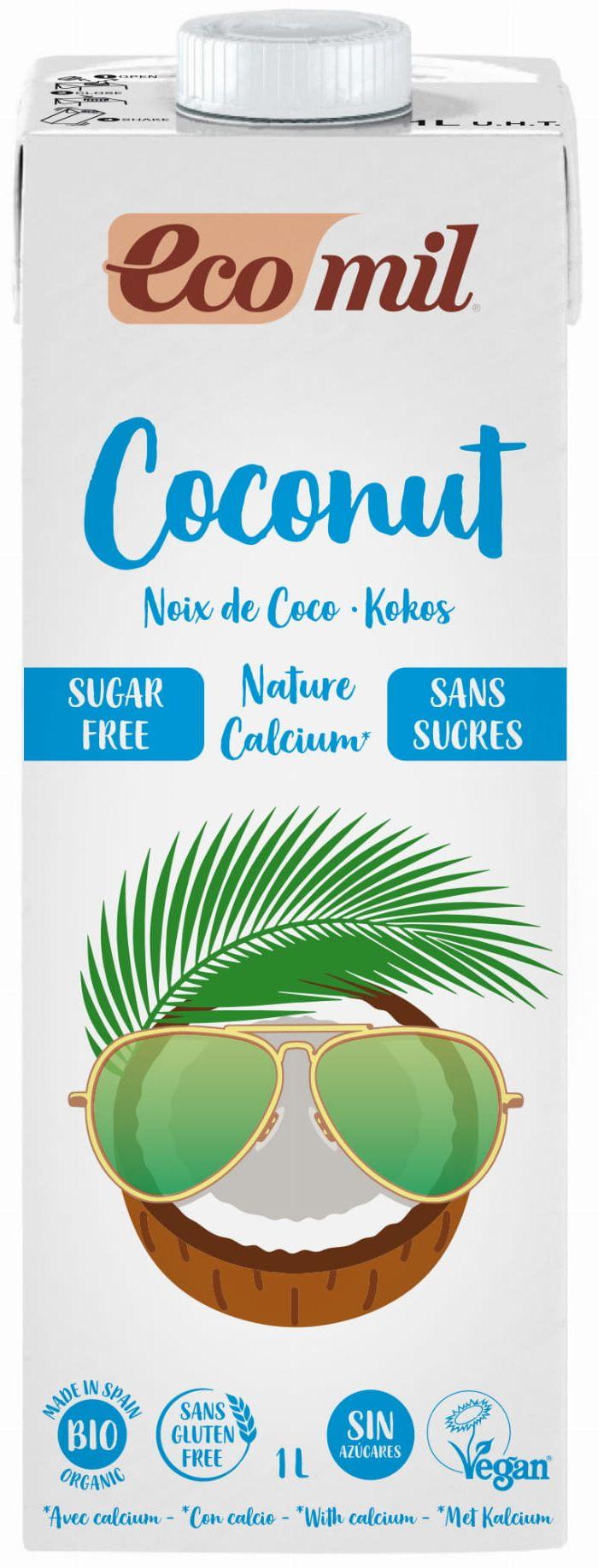 Napój Kokosowy z Wapniem bezglutenowy bez dodatku cukru BIO 1L - Ecomil