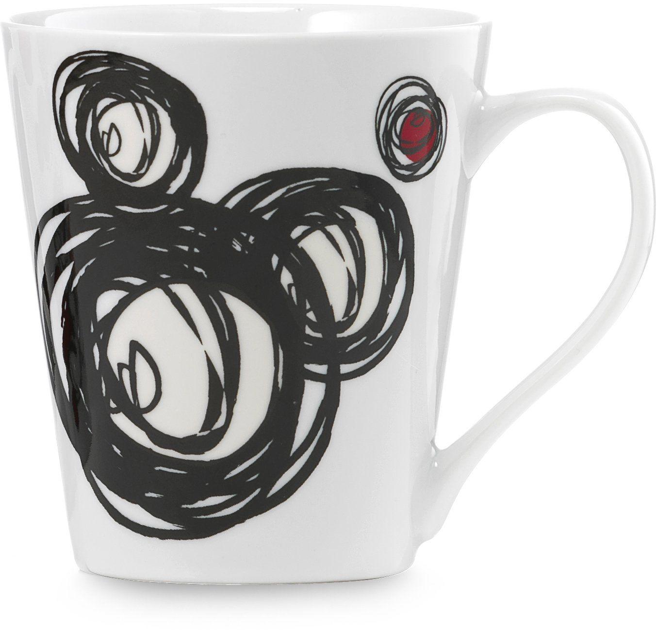 Disney Kubek z motywem Myszki Miki, porcelana, Mickey z napisem