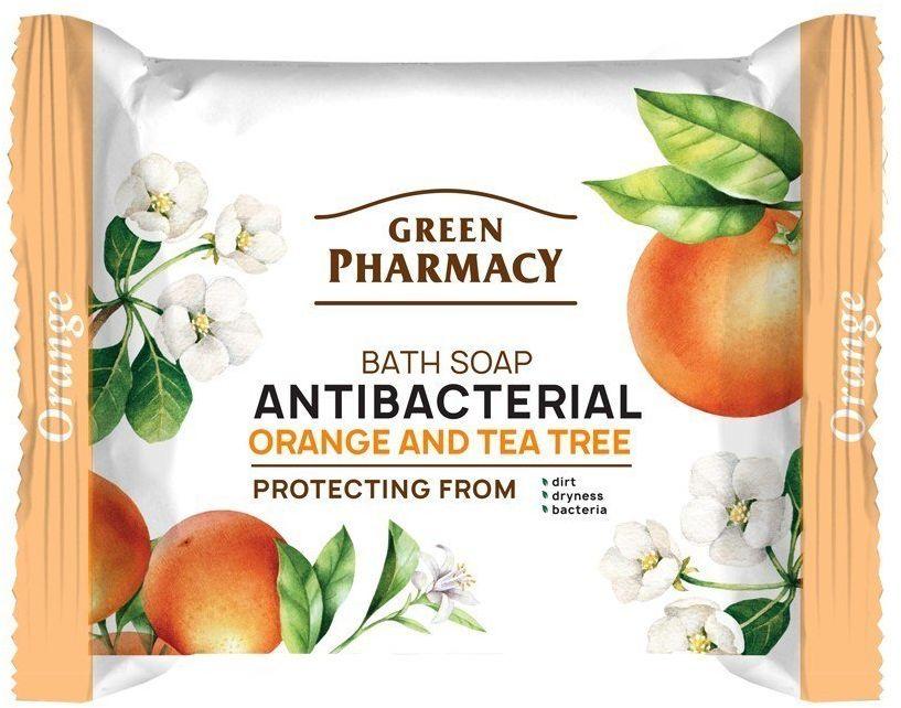 Elfa Pharm Green Pharmacy Antybakteryjne Mydło w kostce Pomarańcza i Drzewo Herbaciane 100g