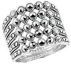 Srebrny pierścionek - Markazyty