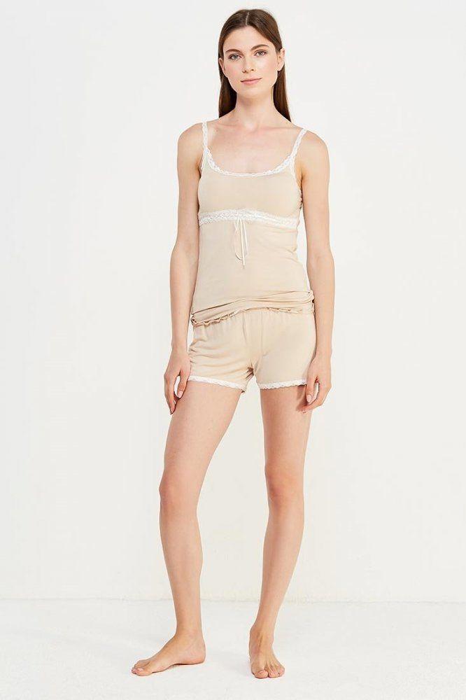 Damska bambusowa piżama LIA Beżowy XL