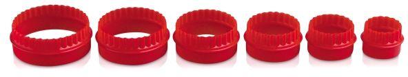 Foremka do wycinania ciastek - okrągła (czerwona)