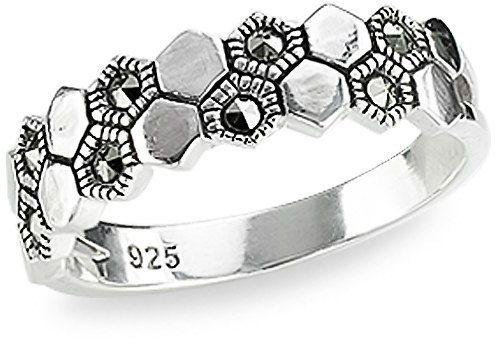 Srebrny pierścionek PDM5528 - Markazyty