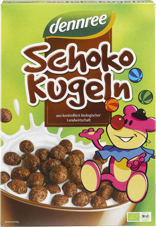 Płatki śniadaniowe kulki czekoladowe bio 250 g - dennree