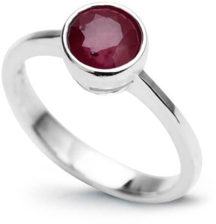 Srebrny pierścionek - Rubin