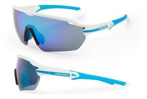 Okulary Accent Reflex biało-niebieskie, 2 pary soczewek