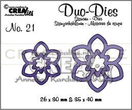 Wykrojnik CreaLies - Duo Dies no. 21 Flowers 12