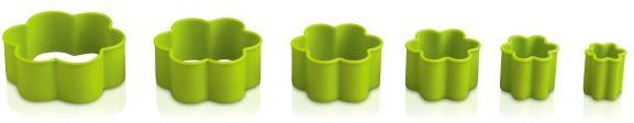 Foremka do wycinania ciastek - kwiatuszek (zielona)