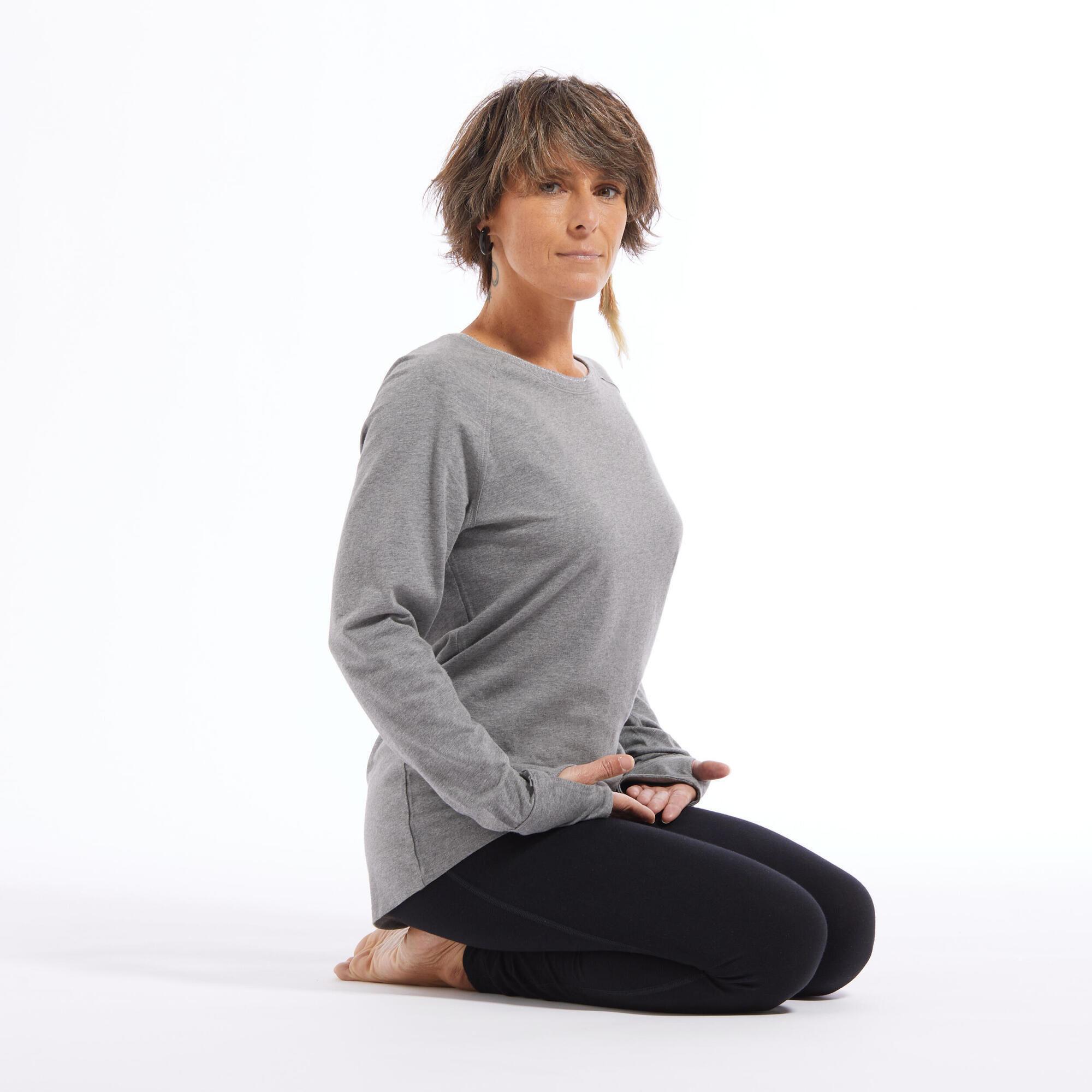 Koszulka do łagodnej jogi długi rękaw