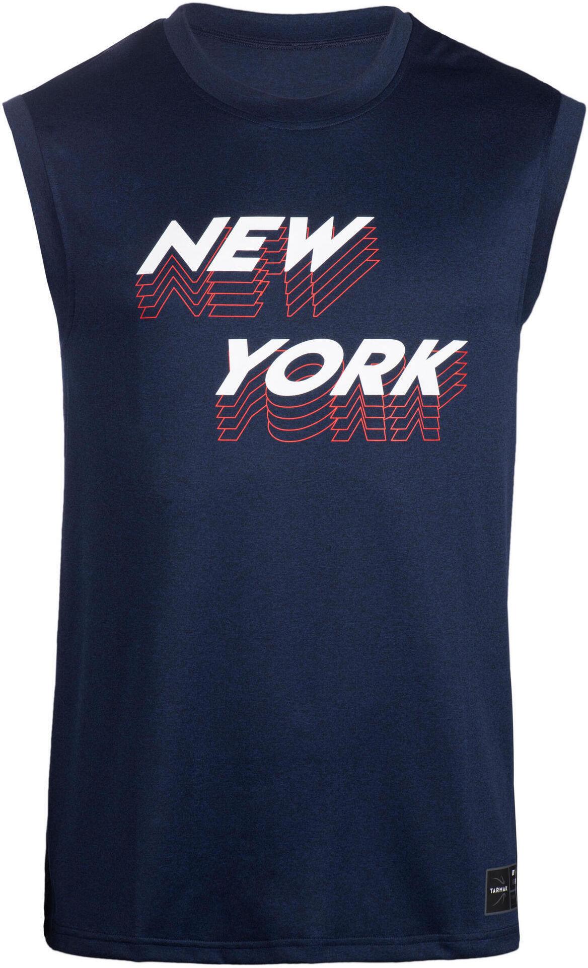Koszulka bez rękawów do koszykówki TS500 męska NEW YORK